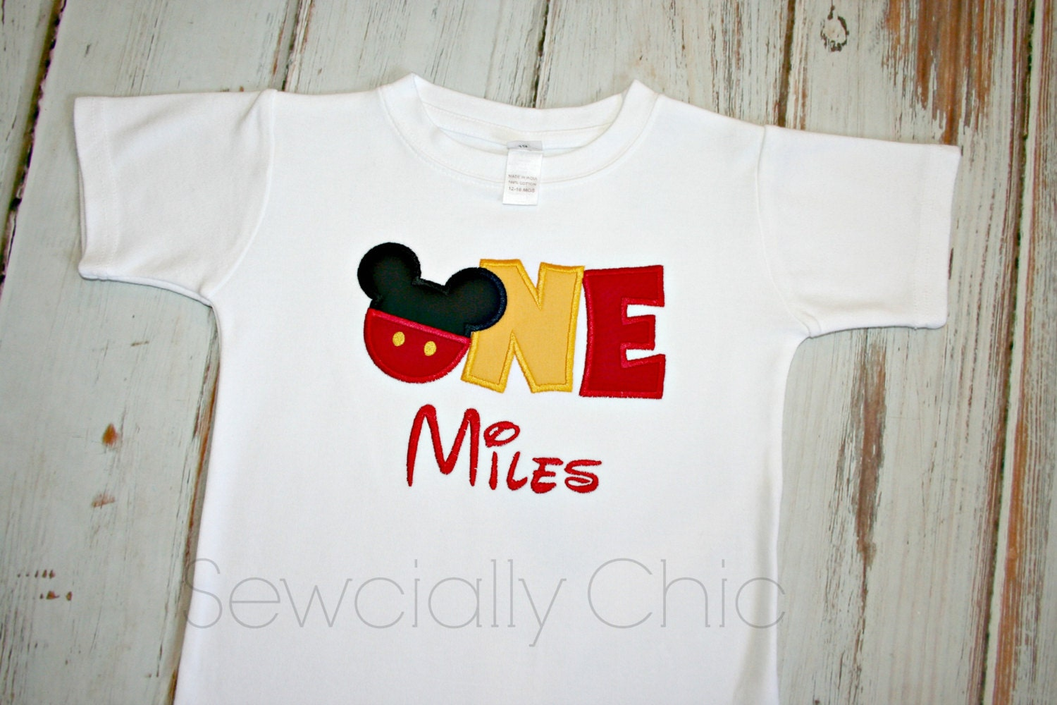 1st Birthday Boy Shirt Disney