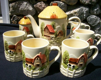 Marks & Rosenfeld Barn Teapot Set