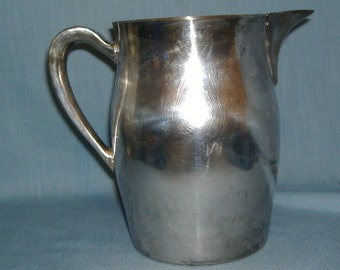 Silver Water Pitcher with Ice Lip