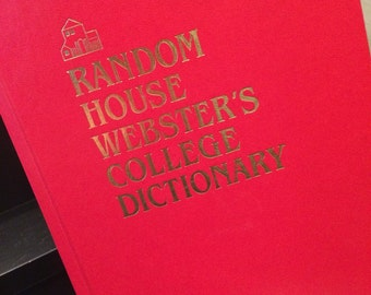 Random House Webster's college dictionary, early 90s