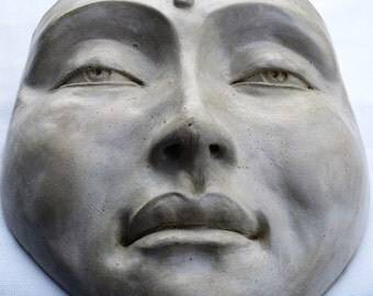 Mask of Buddha, Zen Healing Wall Sculpture, Handmade Artwork for Home Decor