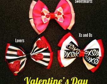 Valentines Day Heart Bows