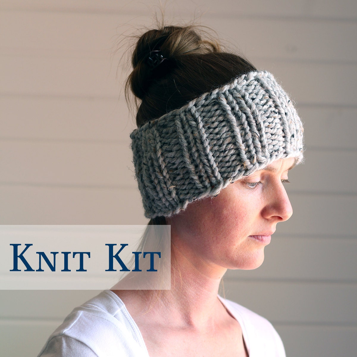 Knit Headband Pattern In The Round : Headband Knit Kit Knit in the Round DARING by bromefields
