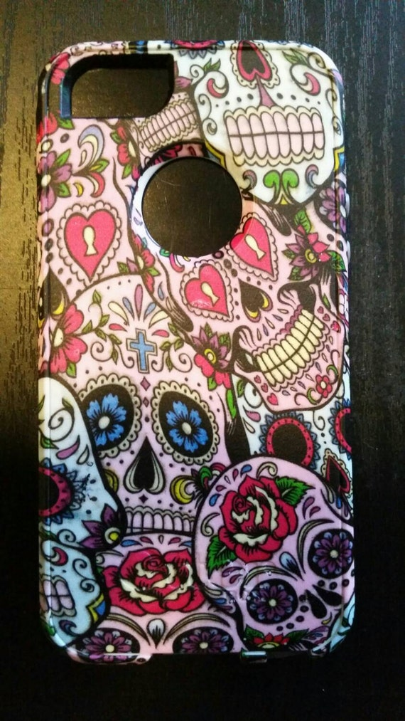 iPhone 6 6s  Otterbox Commuter, Sugar Skull, Sugarskull, Custom Otterbox, skulls, day of the de								<a href=