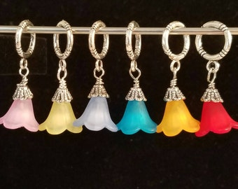 Bell Flower knit stitch markers