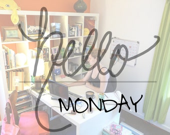 HELLO DAYS.  (Scrapbooking Digital Download - Photoshop Brush Stamps - Handwritten Days of the Week)