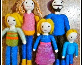 Your family - Needle felted wool - Natural and ecofriendly