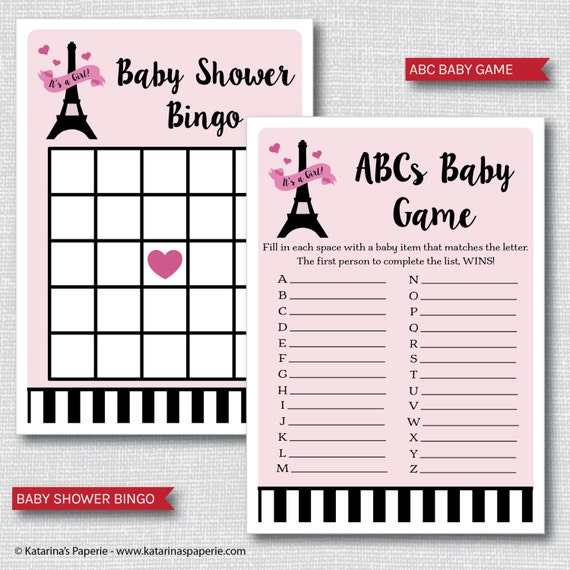paris baby shower games 8 printable games and activities bingo