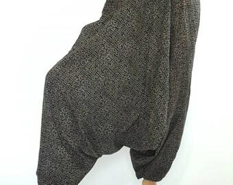 HL0017 Harem Pants Unisex Low Crotch Yoga Trousers