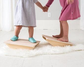 Balance Board - Rocker Board - Wood Toy - Fidget Toy - Balance Toy - Montessori - Gifts for Children - Sensory Board