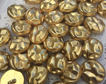 Bulk 20 large gold buttons / shank buttons / gold buttons? rustic button