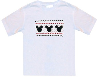 Mickey Mouse Faux Smocked Shirt or Shirt and Shorts Outfit