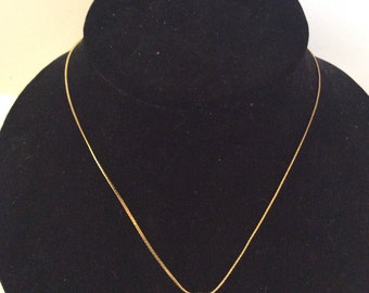 Gold toned necklace 17 in