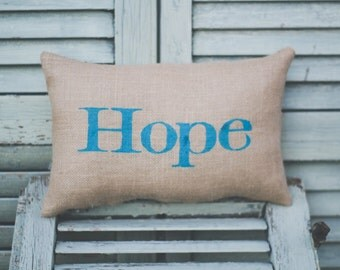 Hope Decorative Pillow : Hope pillow Etsy