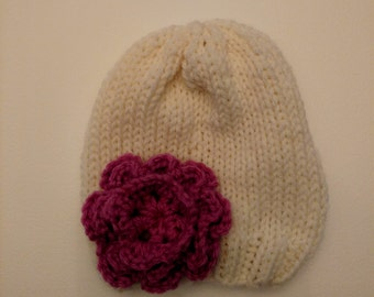Hand Knit Newborn Hat