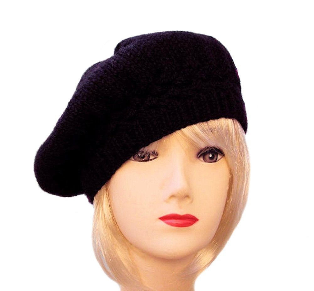 Style your look with this lightweight cutout knit beret hat for an effortless, relaxed attitude. This beret is chic and comfortable to wear. A variety of colors, knit patterns and a low price let you.