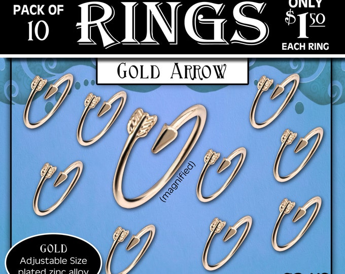"""Arrow Rings Pack of 10 rings only 1.50 each ring. """"Press Forward with a Steadfastness"""" 2016 mutual theme silver YW Young Women ring or charm"""