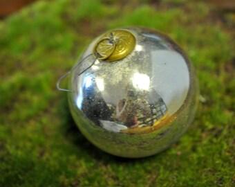 Kugel ornament, Vintage Christmas decoration, silver ornament, We have more in our shop, mercury glass, Christmas decor #21K