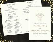 Wedding Programs Elegant Wedding Program Traditional Wedding Programs Classic Wedding Program