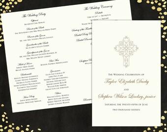 Wedding Programs Elegant Wedding Program Traditional Wedding