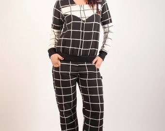 Combination Syklo black and white checkered