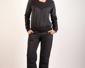 Combination Syklo in black and taffeta