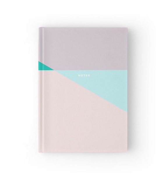 Pastel Triangle Pink Based Notebook