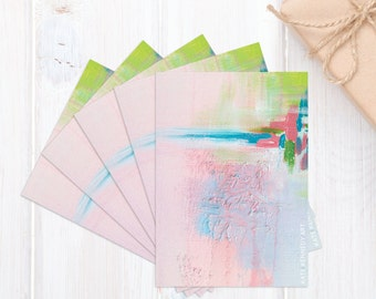 Scribble Cards, Pack of 5, Gifts, Art Cards, Post Card, Printed, Australian Art, Acrylic, Abstract