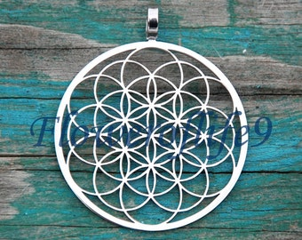 Flower of life  pendant - Stainless Steel
