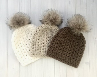 how to put a pompom on a baby beanie hat