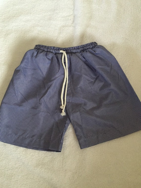 Gingham swim trunks
