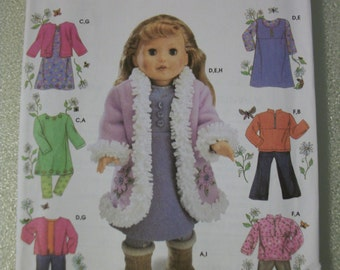Simplicity 4786 18 inch doll clothes for American Girl, Springfield, New Generation