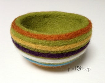 How To Make a Needle Felted Bowl-PDF Tutorial