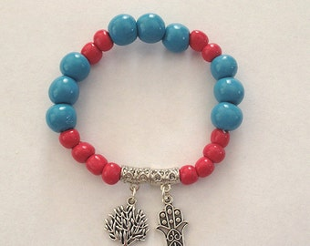 Polymer Clay Charm Bracelet - Tree of Life