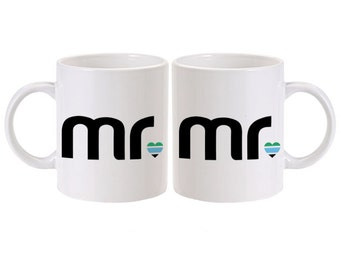 Gay Groom Gift Idea | Gay Mug Set | Gay Wedding Gift | Gay Engagement Gift | Gay Men Gift | Gay Gift | Gay Marriage Gift