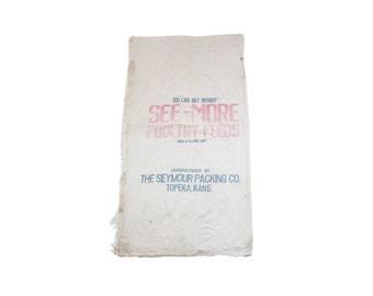 Vintage Large Linen Grain Feed Sack