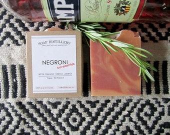 Negroni Cold Process Soap Small Batch Bitter Orange Neroli Sweet Orange Rose Vegan All Natural Bar Essentials - Negroni Week