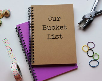Our Bucket List - 5 x 7 journal