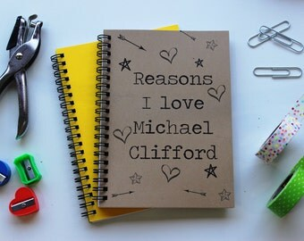 Reasons I love Michael Clifford (not a personalized journal) - 5 x 7 journal