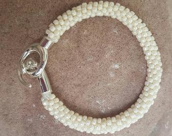 Pearls of Joy Kumihimo Beaded Bracelet