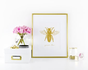Queen Bee Print - Bee Print - Bee Decor