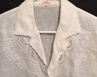 Linen Hand Embroidered Shirt