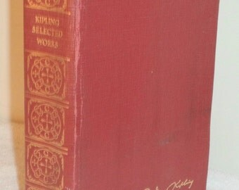 Antique Kipling Selected Stories Leather SC Printed by Collier, 1004pgs