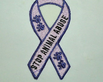 Iron-on Patch - STOP ANIMAL ABUSE