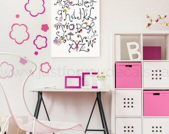 Shopping Alphabet Poster, Teen ShoppingWall Art, Girls Poster, Alphabet Wall Art, Alphabet Nursery Art, Alphabet Nursery, Nursery Art 220040