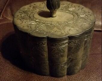 Vintage Metal Trinket Box