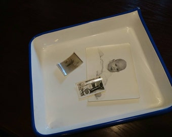 "Vintage PHOTO PROCESSING TRAY 20"" X 17"" Porcelain Enamel"