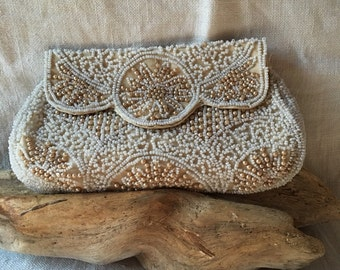 1930's beaded purse pouch