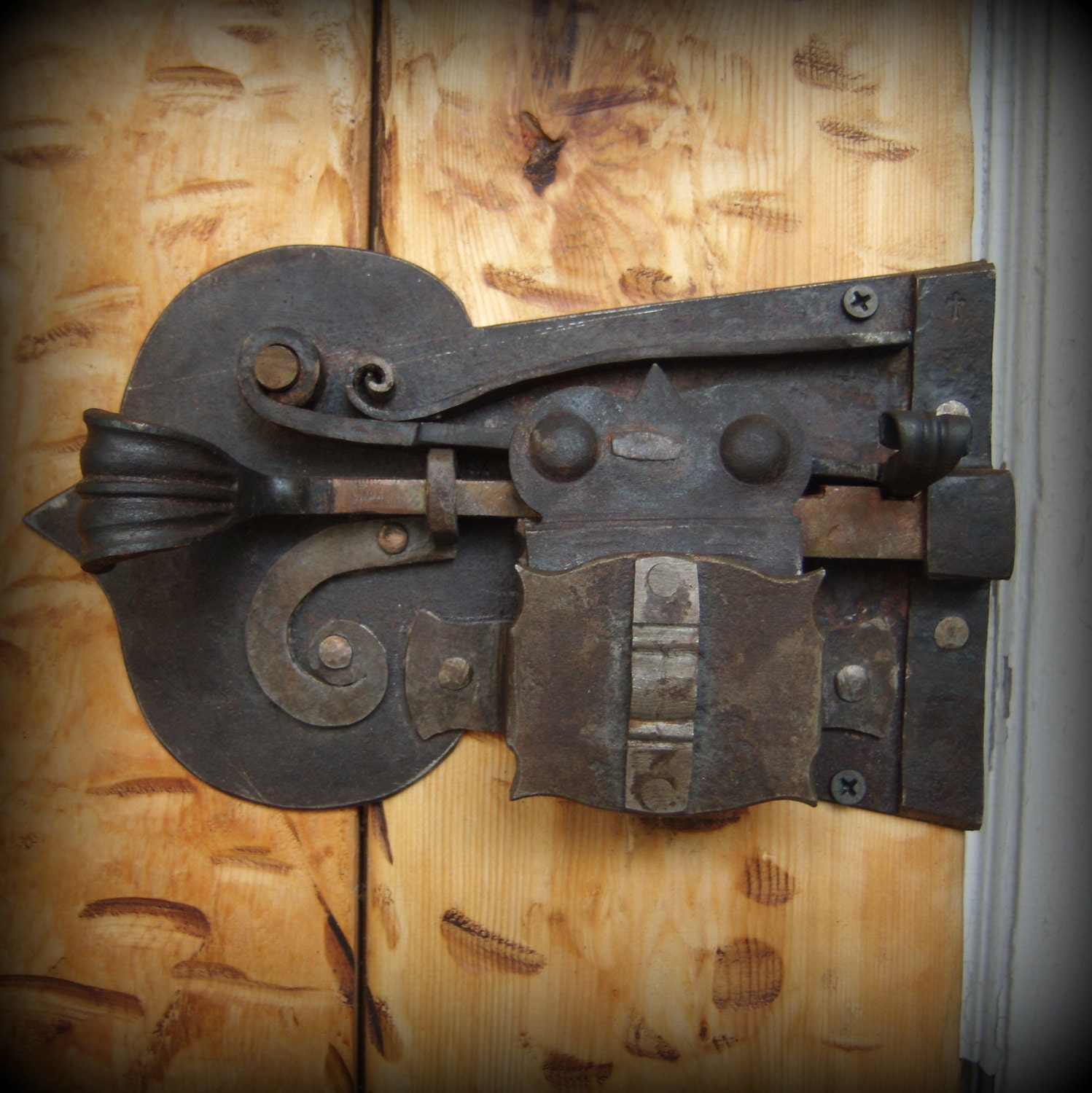 Custom Forged Lock Blacksmith Made Door Lock And Key Hand