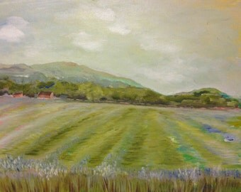 "11x14"" impressionistic farm landscape original painting"